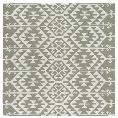 Handmade Taupe/Ivory Indoor/Outdoor Area Rug Rug Size: Square 79