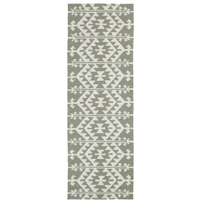 Handmade Taupe/Ivory Indoor/Outdoor Area Rug Rug Size: Runner 26 x 8