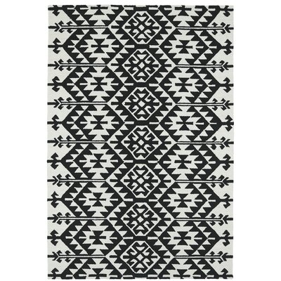 Handmade Black / Ivory Indoor / Outdoor Area Rug Rug Size: 10 x 14