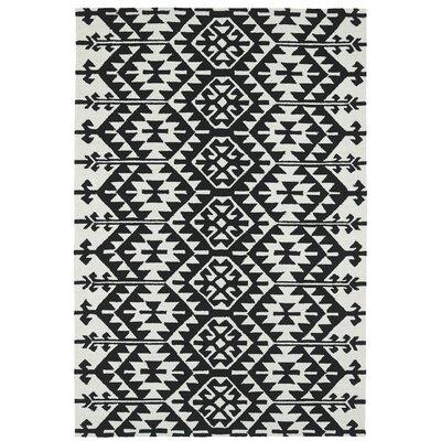 Handmade Black / Ivory Indoor / Outdoor Area Rug Rug Size: 5 x 76