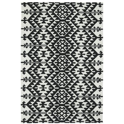 Handmade Black / Ivory Indoor / Outdoor Area Rug Rug Size: 8 x 10