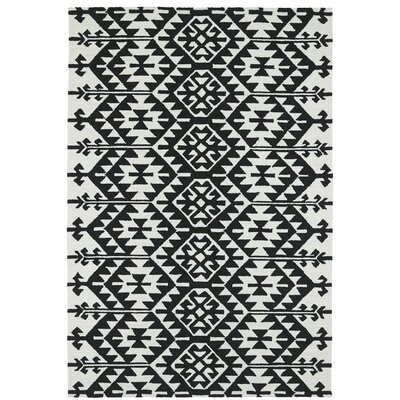 Handmade Black / Ivory Indoor / Outdoor Area Rug Rug Size: 9 x 12