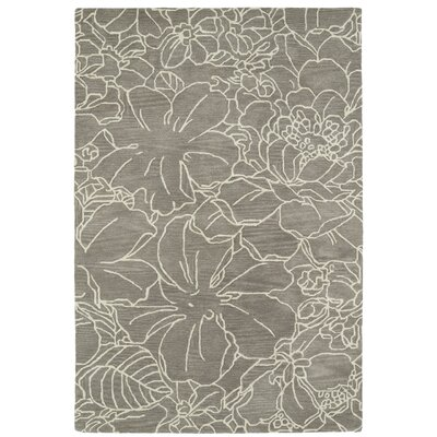 Hand-Tufted Taupe/Ivory Area Rug Rug Size: Rectangle 3 x 5