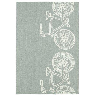Handmade Grey/Ivory Indoor/Outdoor Area Rug Rug Size: 9 x 12