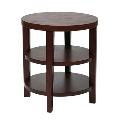 Crown Heights End Table Color: Mahagony