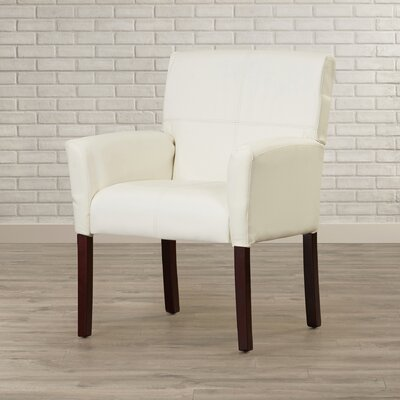 Milliken Leather Executive Lounge Chair Color: White