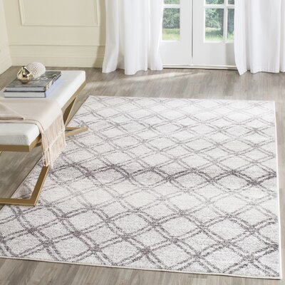 Schacher Silver/Charcoal Area Rug Rug Size: 26 x 6
