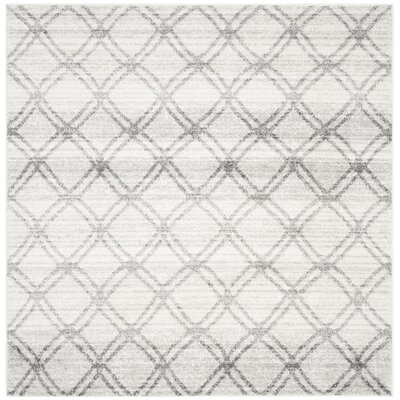 Schacher Silver/Charcoal Area Rug Rug Size: Square 6