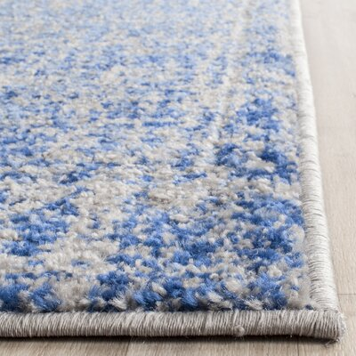 Schacher Blue/Silver Area Rug Rug Size: Square 4