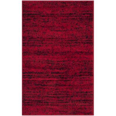 Schacher Red/Black Area Rug Rug Size: Runner 26 x 8