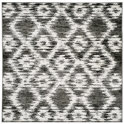 Schacher Charcoal/Ivory Area Rug Rug Size: Square 6