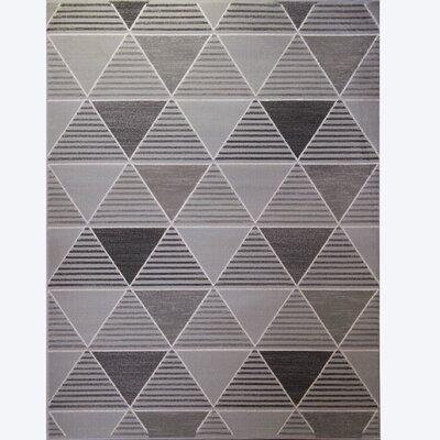 Sanderlin Gray Area Rug Rug Size: 52 x 72