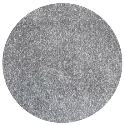 Bouvier Hand-Woven Gray Area Rug Rug Size: Round 6