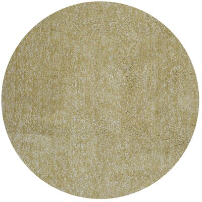 Bouvier Hand-Woven Yellow Area Rug Rug Size: Round 8