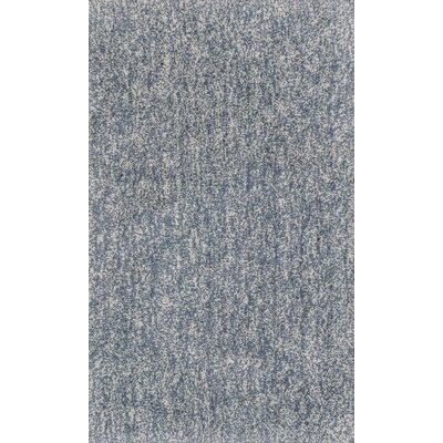 Bouvier Hand-Woven Slate Area Rug Rug Size: 33 x 53