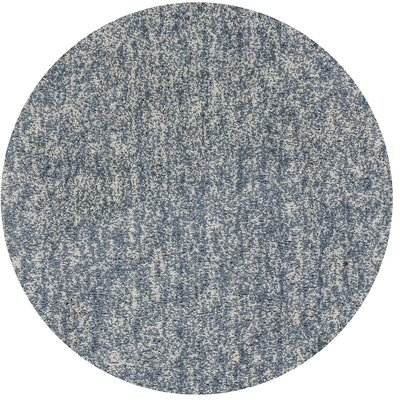 Bouvier Hand-Woven Slate Area Rug Rug Size: Round 6