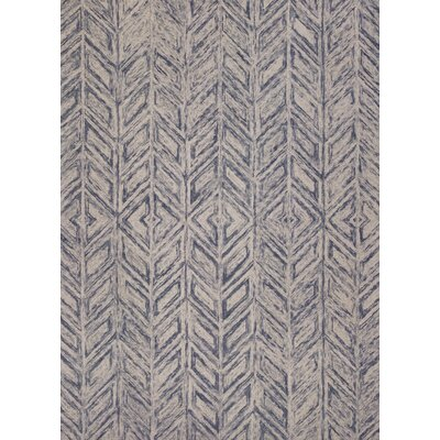 Lawton Hand-Tufted Blue Area Rug Rug Size: 33 x 53