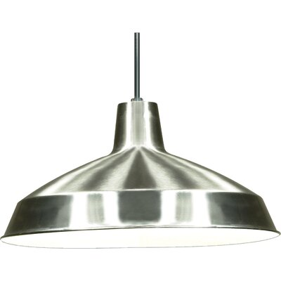 Woodsen 1-Light Inverted Pendant Finish: Brushed Nickel
