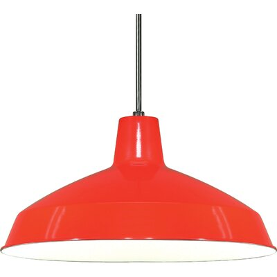 Woodsen 1-Light Inverted Pendant Finish: Red