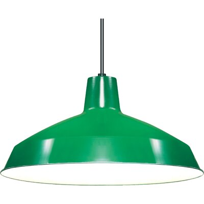 Woodsen 1-Light Inverted Pendant Finish: Green