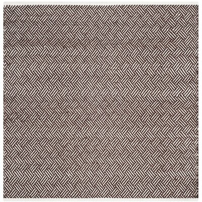 Redbrook Brown Area Rug Rug Size: Square 4