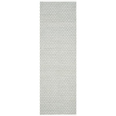 Redbrook Gray Area Rug Rug Size: Runner 23 x 7