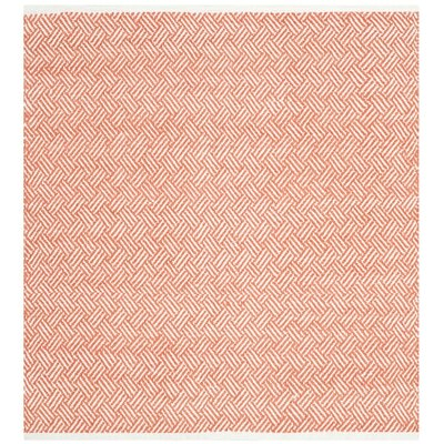 Redbrook Orange Area Rug Rug Size: Square 4
