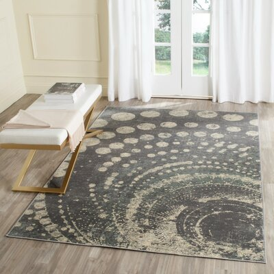 Stave Light Gray Area Rug Rug Size: Rectangle 67 x 92