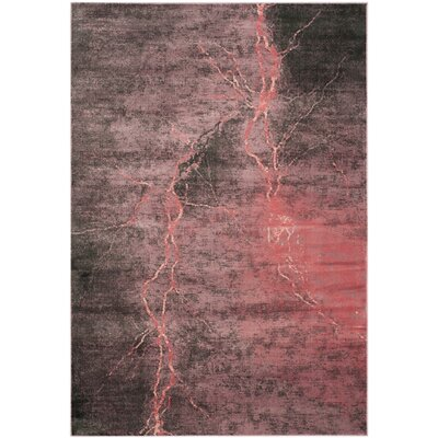 Stave Purple/Gray Area Rug Rug Size: Rectangle 53 x 76