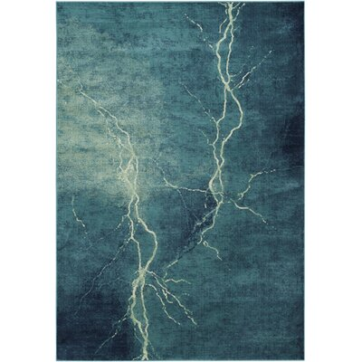 Stave Turquoise Area Rug Rug Size: Rectangle 67 x 92