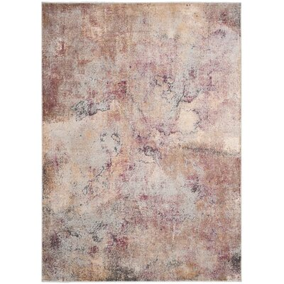 Stave Beige/Multi Area Rug Rug Size: Rectangle 53 x 76