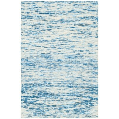 Short Hand-Loomed Blue Area Rug Rug Size: 2 x 3