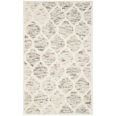 Short Hand-Loomed Light Brown/Ivory Area Rug Rug Size: 3' x 5'