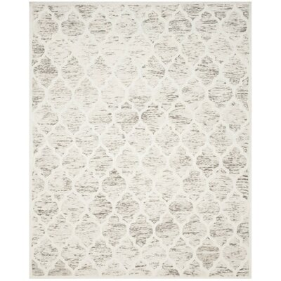 Short Hand-Loomed Light Brown/Ivory Area Rug Rug Size: 8' x 10'
