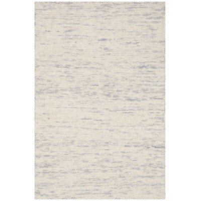 Short Hand-Loomed Silver Area Rug Rug Size: Rectangle 2 x 3