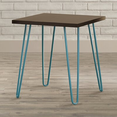 Bronstein End Table Finish: Teal/Espresso