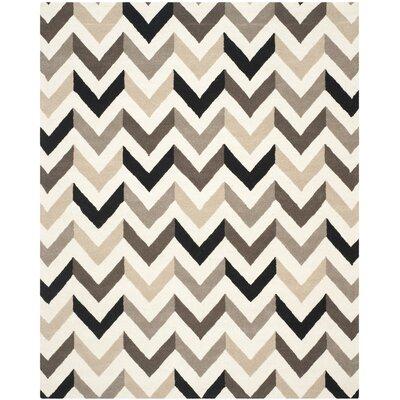 Shaler Hand-Tufted Ivory/Black Area Rug Rug Size: 8 x 10