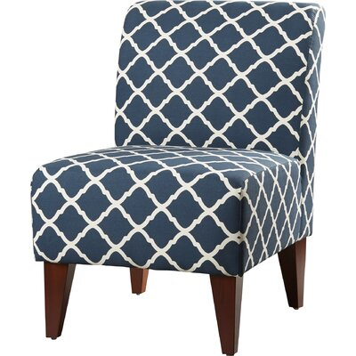 Proctor Slipper Chair Upholstery: Blue/White