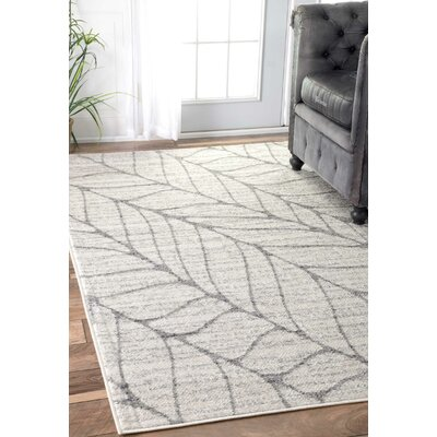 Sackett Light Gray Area Rug Rug Size: 4 x 6