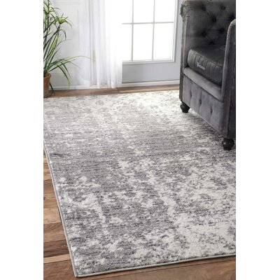 Bloom Gray Area Rug Rug Size: 4 x 6