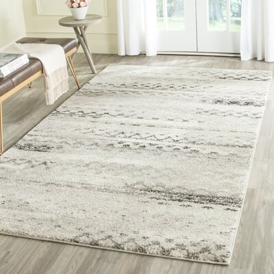 Sabang Cream / Gray Area Rug Rug Size: Rectangle 89 x 12