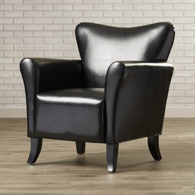 Armonk Arm Chair Upholstery: Black
