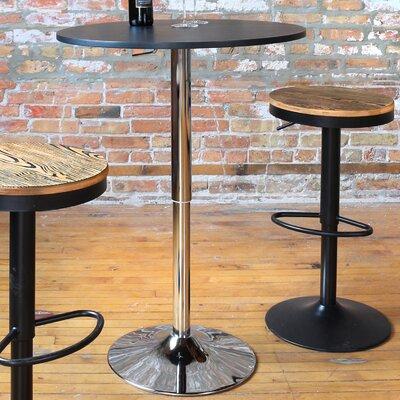 Serio Adjustable Height Pub Table Finish: Black