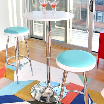 Serio Adjustable Height Pub Table Finish: White