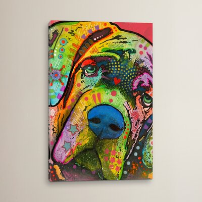 'Mastiff' by Dean Russo Graphic Art on Wrapped Canvas