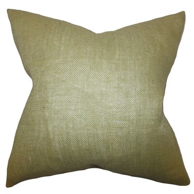 Portsmouth Solid Burlap Throw Pillow Color: Moss Green, Size: 20 H x  20 W