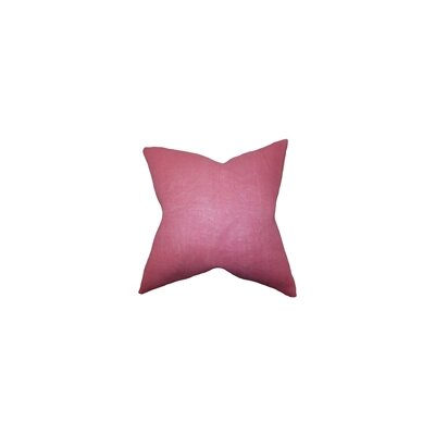 Portsmouth Solid Burlap Throw Pillow Color: Pink, Size: 20 H x  20 W