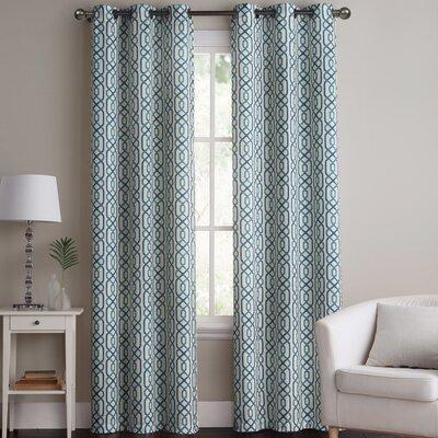 Apollo Trellis Blackout Grommet Curtain Panel Pair