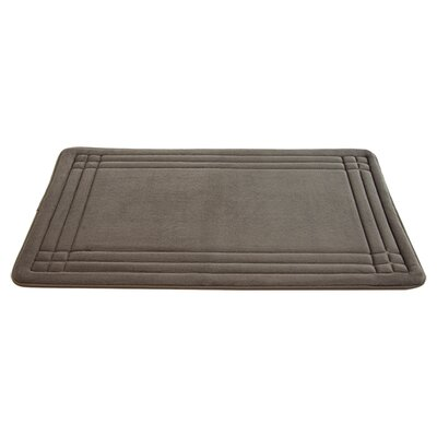 McBride Embossed Memory Foam Bath Rug Size: 34 H x 21 W, Color: Taupe