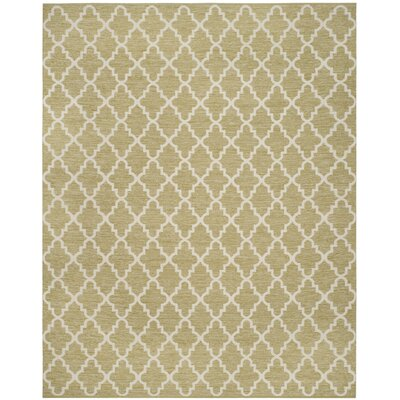 Shevchenko Place Hand-Woven Green / Ivory Area Rug Rug Size: Rectangle 8 x 10